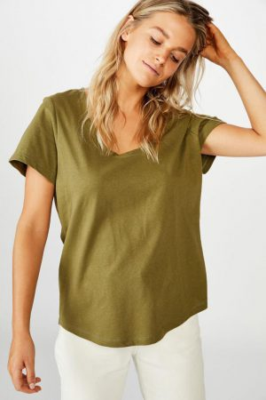 Cotton On Essential Tees | Womens The One Scoop Tee Winter Moss