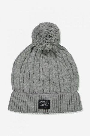 Cotton On Hats | Mens Alaska Beanie Grey Marle/Worldwide Supply