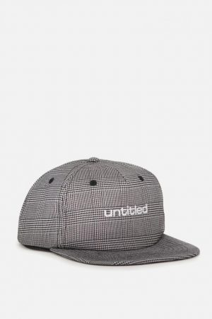 Cotton On Hats | Mens Art Snapback Grey Check/Untitled