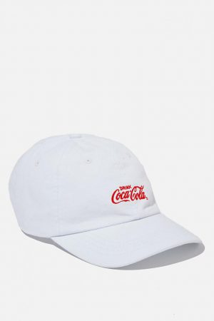 Cotton On Hats | Mens Special Edition Dad Hat Lcn Cok White/Red/Coca Cola