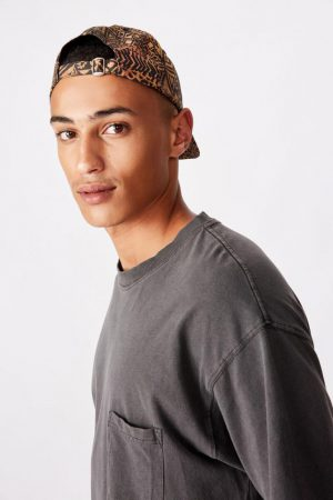 Cotton On Hats | Mens Strap Back Dad Hat Animal Tribal