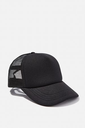 Cotton On Hats | Mens Wicked Print Trucker Black