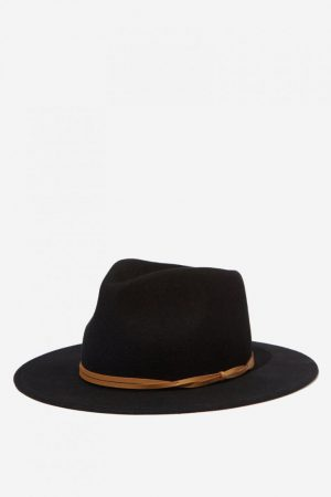 Cotton On Hats | Mens Wide Brim Felt Hat Black