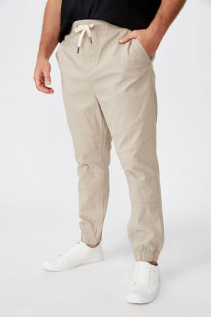 Cotton On Joggers | Mens Bg Drake Cuffed Pant Taupe Biker