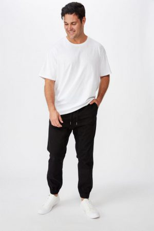 Cotton On Joggers | Mens Bg Drake Cuffed Pant True Black