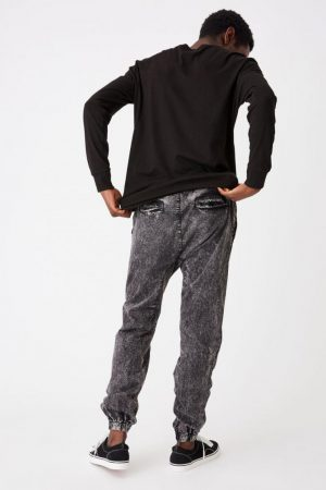Cotton On Joggers | Mens Drake Cuffed Pant Acid Black