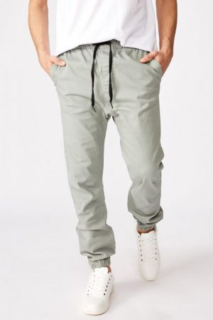 Cotton On Joggers | Mens Drake Cuffed Pant Mist Grey