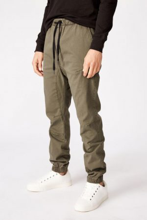 Cotton On Joggers | Mens Drake Cuffed Pant Washed Olive