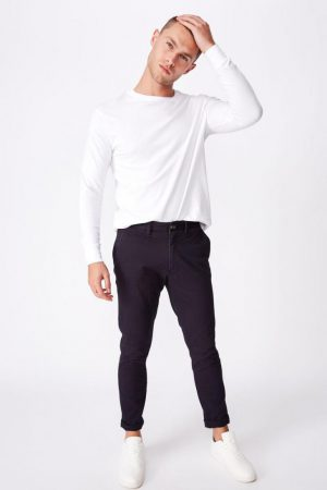 Cotton On Joggers | Mens Skinny Stretch Chino Navy