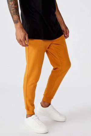 Cotton On Joggers | Mens Trippy Slim Trackie Caramel