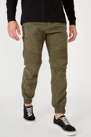 Cotton On Joggers | Mens Urban Jogger Forrest Green Moto
