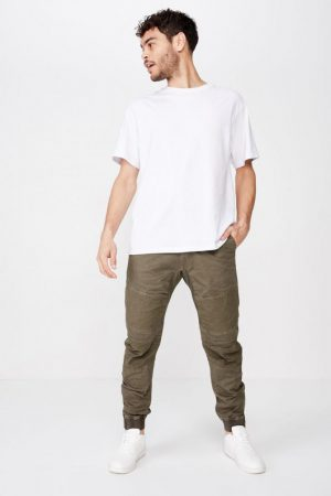 Cotton On Joggers   Mens Urban Jogger Olive Ripstop Utility