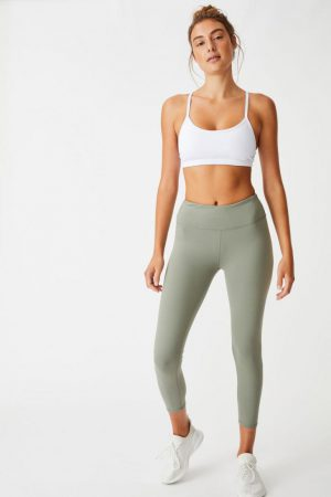 Cotton On Leggings | Womens Active Core 7/8 Tight Core Steely Shadow