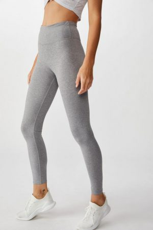 Cotton On Leggings | Womens Active Core Tight Mid Grey Marle