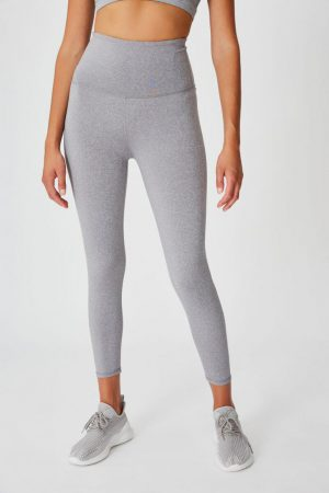 Cotton On Leggings | Womens Active High Waist Core 7/8 Tight Mid Grey Marle