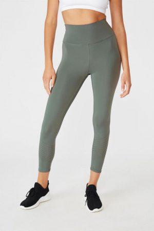Cotton On Leggings | Womens Lifestyle 7/8 Tight Oil Green Laser