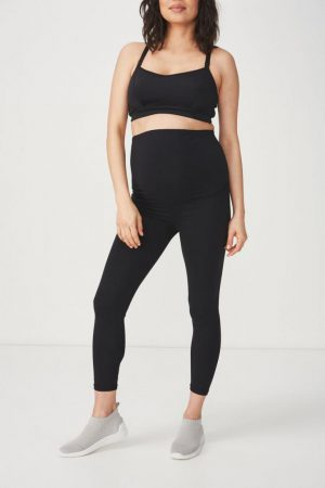 Cotton On Leggings | Womens Maternity Core 7/8 Tight Black