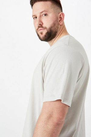 Cotton On Longline | Mens Bg Essential Longline Curved Hem Smoke