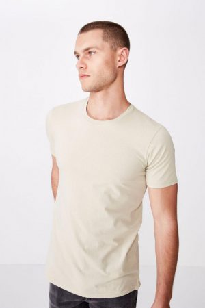 Cotton On Longline | Mens Essential Longline Scoop Tee Pale Sand