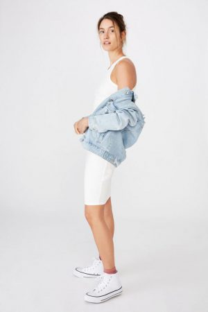 Cotton On Midi | Womens Kirsty Racerback Bodycon Midi Dress Cloud Dancer