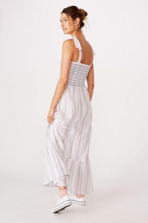 Cotton On Midi | Womens Woven Shae Shirred Midi Dress Stacey Multi Stripe Infinity