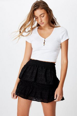 Cotton On Mini | Womens Ellie Broderie Mini Skirt Black