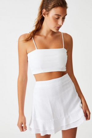 Cotton On Mini | Womens Sasha Frill Mini Skirt White