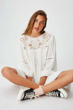 Cotton On Mini | Womens Woven Festival Smock Mini Dress White