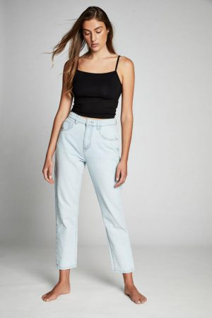 Cotton On Mom & Boyfriend | Womens Mom Jean Bowie Blue Acid Rip