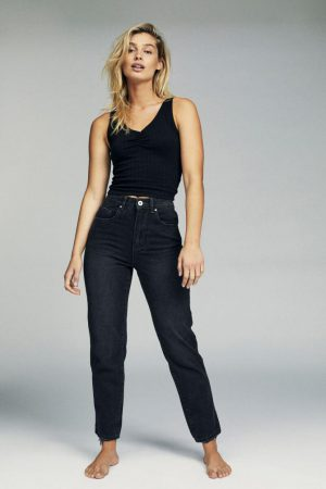 Cotton On Mom & Boyfriend | Womens Mom Jean Vintage Black
