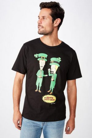Cotton On Pop Culture | Mens Tbar Collab Movie And Tv T-Shirt Lcn Mtv Sk8 Black/Beavis And Butthead – St Pats