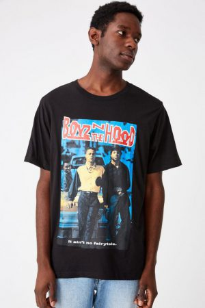 Cotton On Pop Culture | Mens Tbar Collab Movie And Tv T-Shirt Lcn Son Sk8 Black/Boyz In The Hood – Cover