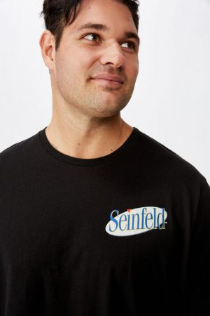 Cotton On Pop Culture | Mens Tbar Collab Tee Lcn Wb Black/Seinfeld – Logo Evolution