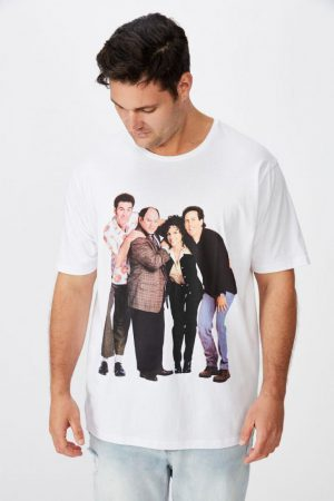 Cotton On Pop Culture | Mens Tbar Collab Tee Lcn Wb White/Seinfeld – Standing
