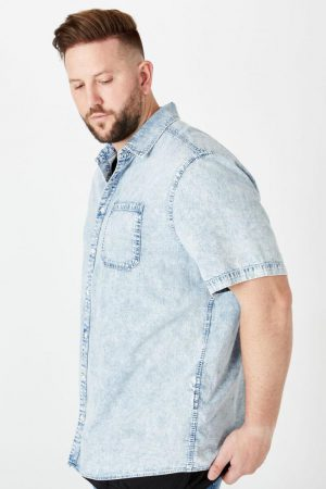 Cotton On Short Sleeve | Mens 91 Short Sleeve Shirt Blue Acid