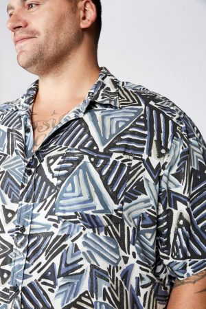 Cotton On Short Sleeve | Mens 91 Short Sleeve Shirt Geo Tribal