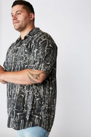 Cotton On Short Sleeve | Mens 91 Short Sleeve Shirt Marble Tribal