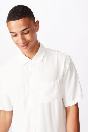 Cotton On Short Sleeve | Mens 91 Short Sleeve Shirt White
