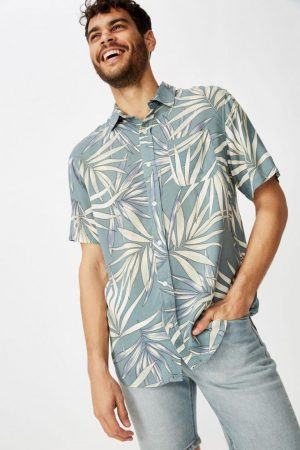 Cotton On Short Sleeve | Mens Short Sleeve Resort Shirt Bahama