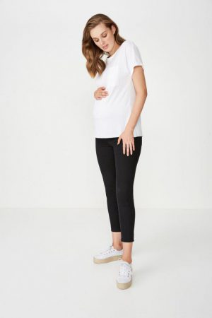 Cotton On Skinny | Womens Mid Rise Maternity Jegging Black