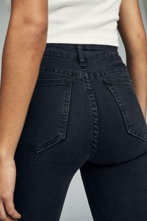 Cotton On Skinny | Womens Mid Rise Skinny Jean Washed Black Rip