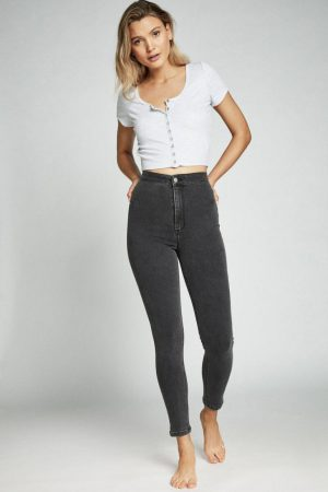 Cotton On Skinny | Womens Ultra High Super Stretch Jean Washed Black