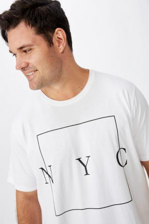 Cotton On Slogan | Mens Tbar Tee White/Nyc Boxed
