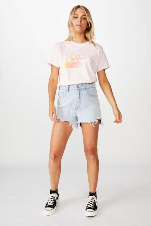 Cotton On Slogan | Womens Classic Iwd T Shirt Girl Crush/Cherry Blossom