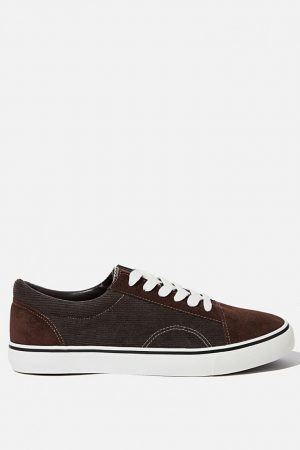 Cotton On Sneakers | Mens Axell Skate Shoe Brown/Corduroy