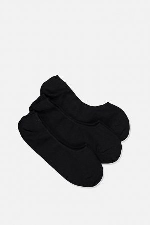 Cotton On Socks | Mens Invisible Socks 3 Pack Black