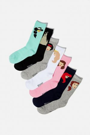 Cotton On Socks | Womens 7 Days Of Disney Socks Pack Lcn Dis Gn Walt Disney Presents