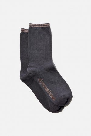Cotton On Socks | Womens Carrie Crew Sock Grisaille All You Need Is Less