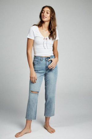 Cotton On Straight | Womens Straight Leg Jean Dallas Blue