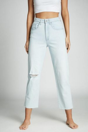 Cotton On Straight | Womens Straight Stretch Jean Bondi Blue Rip